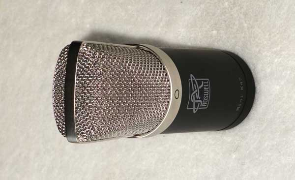 Roswell Audio Mini K47 Condenser Mic w/ Pouch, 2x Mounts, Cardioid Pattern
