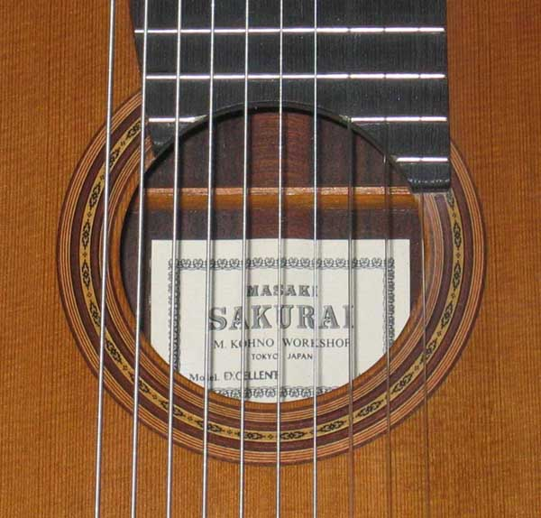 "VINTAGE 1992 Sakurai Kohno Model ""Excellent"" Classical Harp Guitar 10-String Conversion"