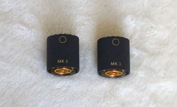 Factory Refurbished Schoeps MK3 Matched Pair Diffuse-Field Omni Capsules
