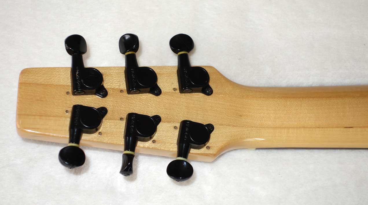 Vintage 1980s Quest by Vantage (Matsumoku MIJ) Mini Travel Guitar w/Custom USA Body, Coil-Splitting!