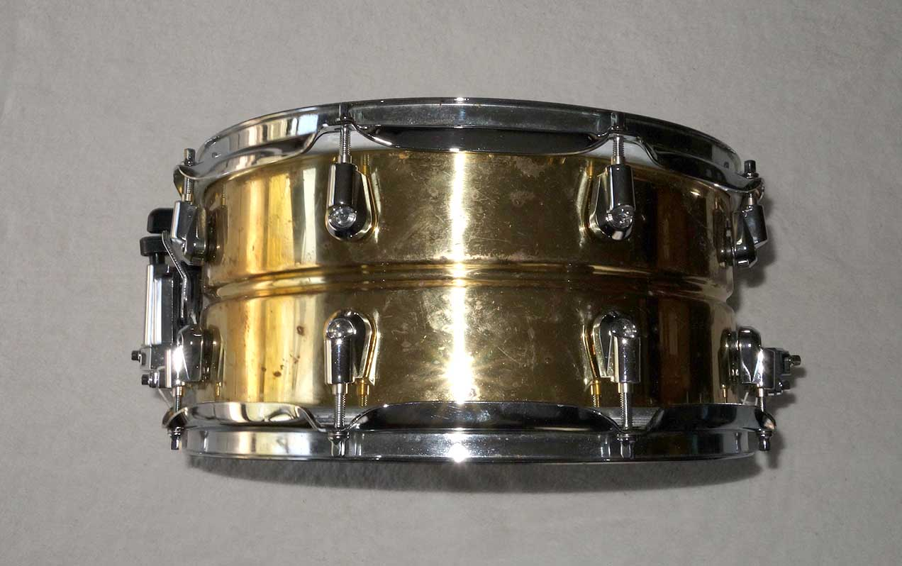 "Discontinued YAMAHA Nouveau Brass 13"" Snade Drum, Made in Japan"