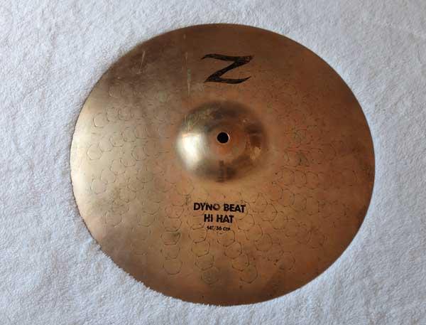 Vintage 1990s Zildjian 14&quotquot; Z Dyno Beat Hi Hat Bottom Heavy Weight = 1360 grams