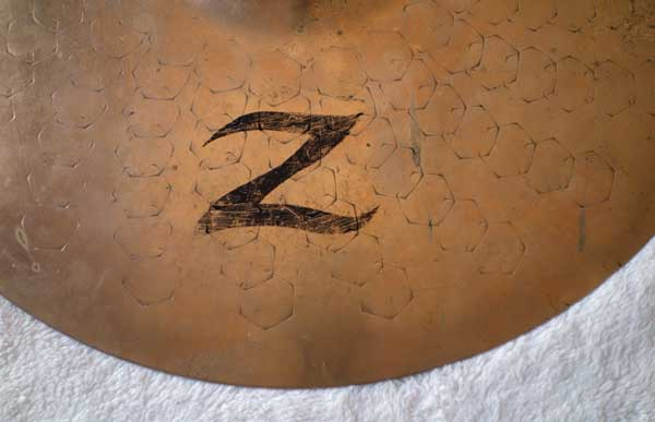 "Vintage 1990s Zildjian 14"" Z Dyno Beat Hi Hat Bottom Heavy Weight = 1360 grams"